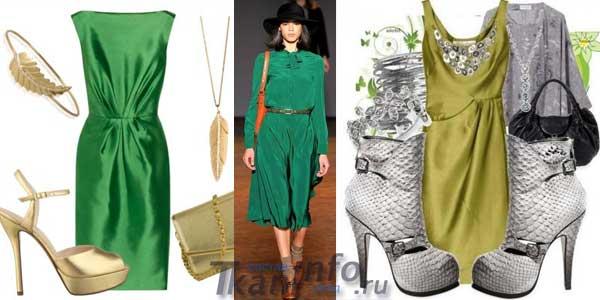 Украшения под зеленые платья