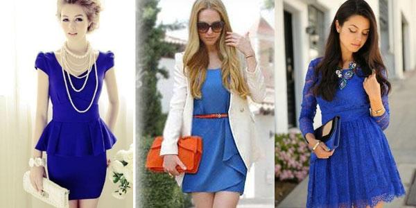 Украшения под синее кружевное платье фото
