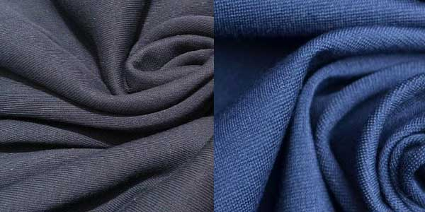 Серая и темно синяя ткань футер