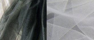 Ткань сетка черного и белого цвета