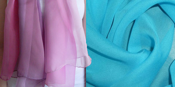 Голубая и розовая ткань