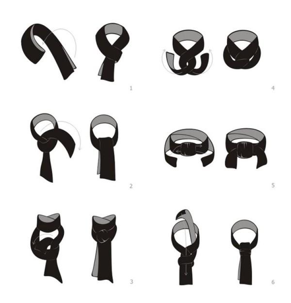 Легкие способы завязывания шарфа