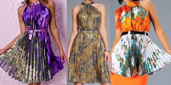 Платья из ткани гофре