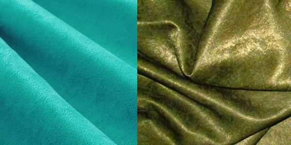 Ткань голубого и зеленого цвета