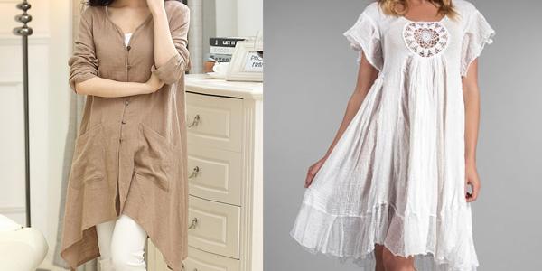 Одежда из льна и хлопка