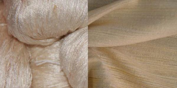 Шелковая пряжа и ткань